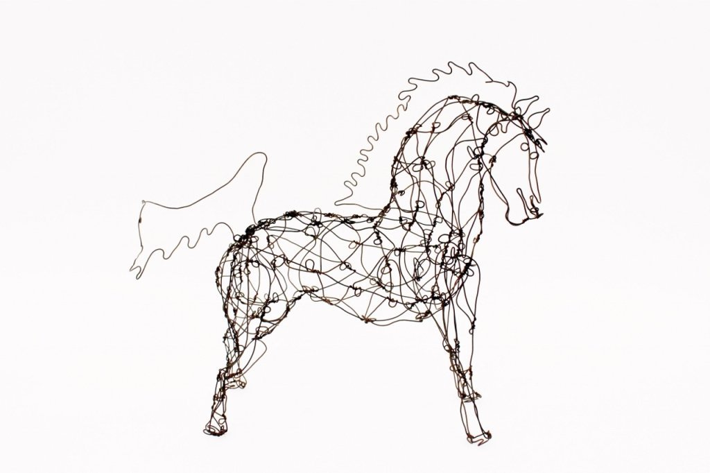 Thai Varick Wire Horse Sculpture