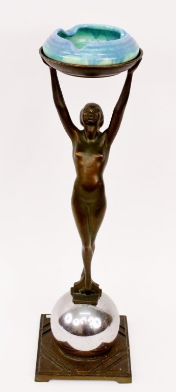 Frankart Figural Nude Smoking Stand (T330)