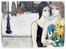 Oil on Canvas Dans La Rue Charles Levier
