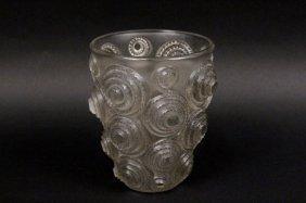 Rene Lalique Spirales Glass Vase