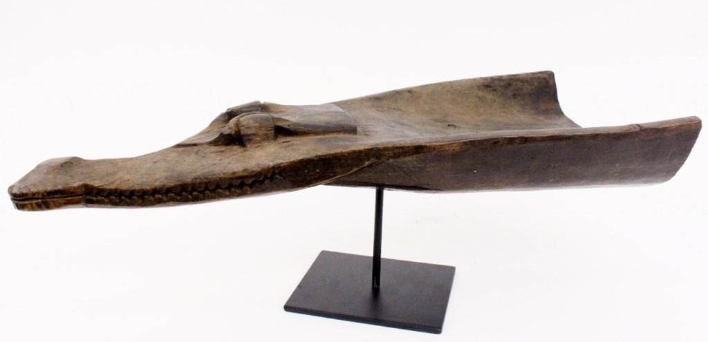 Carved Wood Alligator/Crocodile Face - 7