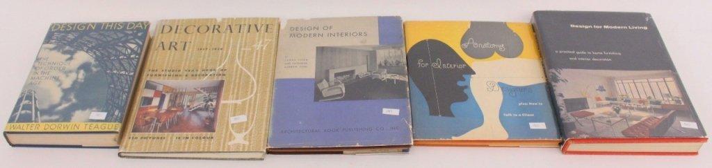 Five Period Mid Century Modern Design Books
