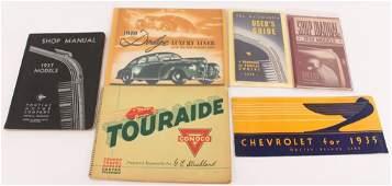 Vintage Automobile Paper Ephemera Lot