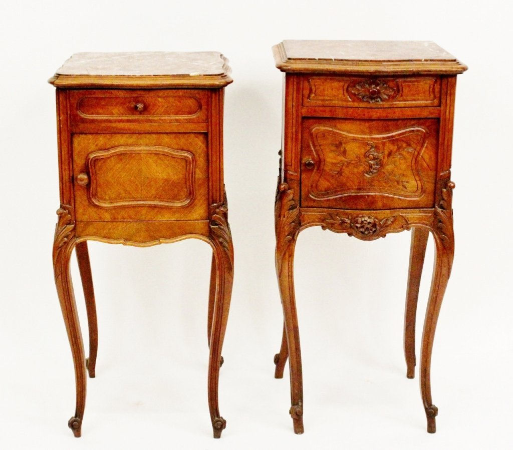 Two Louis XV Style Walnut Commodes