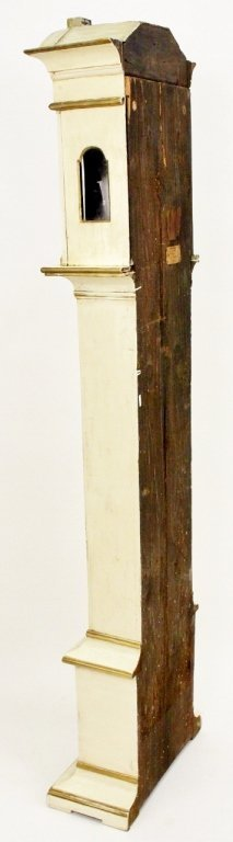 18th C. Painted Grandfather Clock - 10