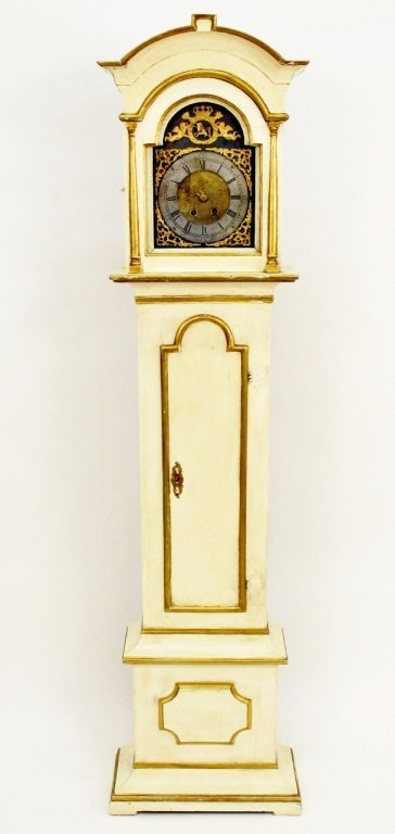 18th C. Painted Grandfather Clock