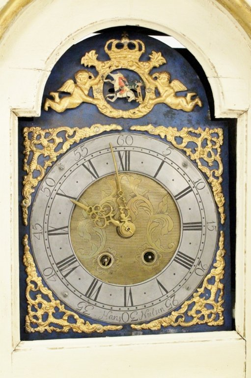 18th C. Painted Grandfather Clock - 5