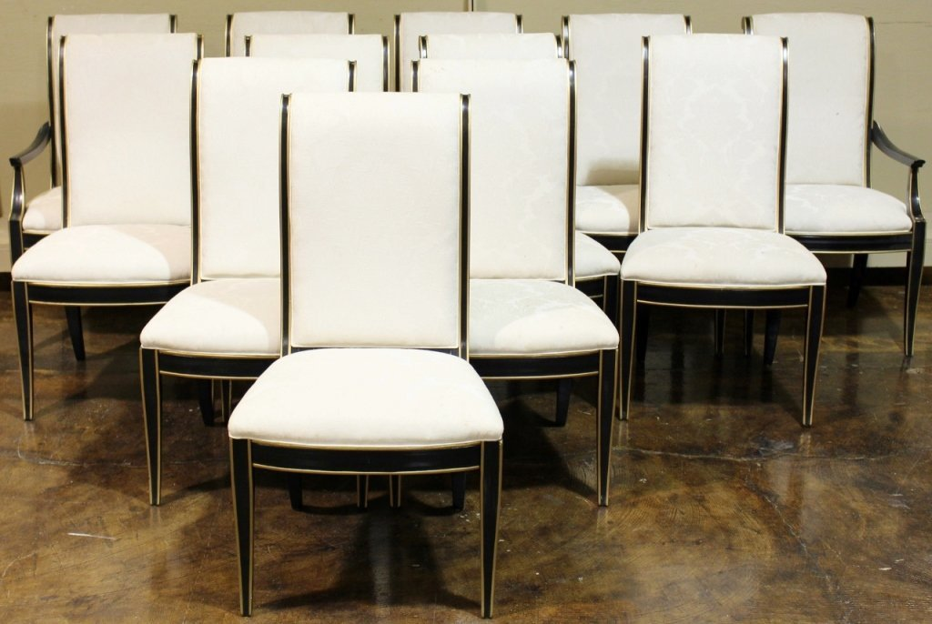 Set of 12 Hickory White Dining Chairs
