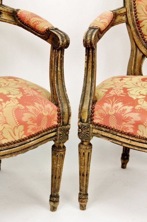 Pair of Louis XV Style Armchairs - 2