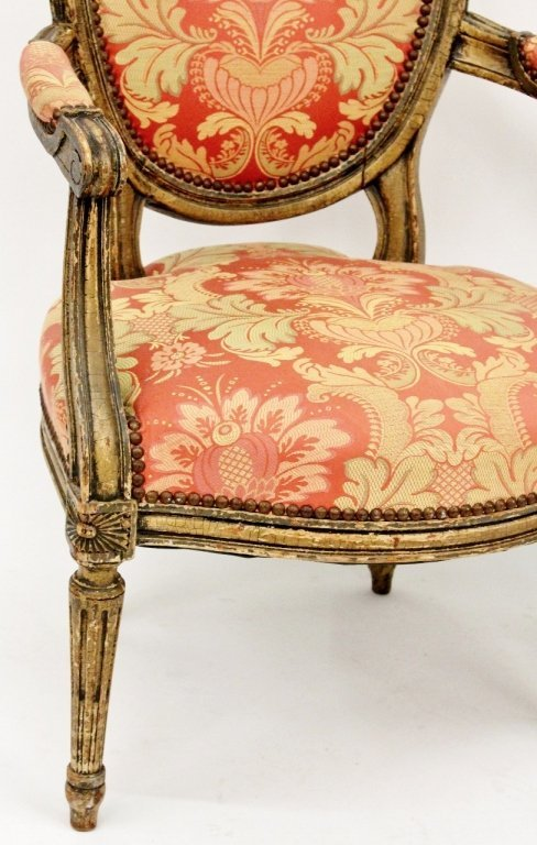 Pair of Louis XV Style Armchairs - 3