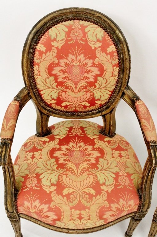 Pair of Louis XV Style Armchairs - 4