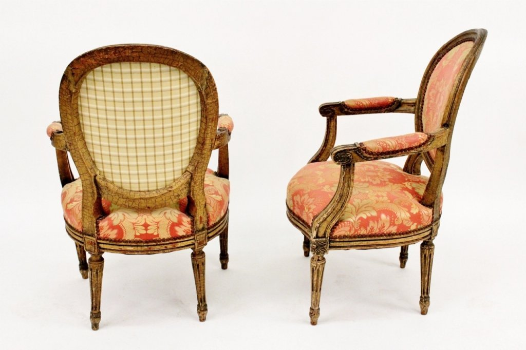 Pair of Louis XV Style Armchairs - 7