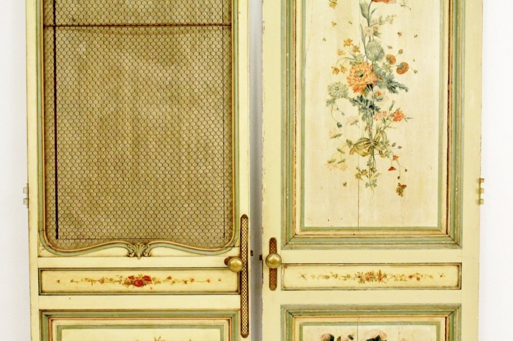 Pair of French Painted Doors - 3