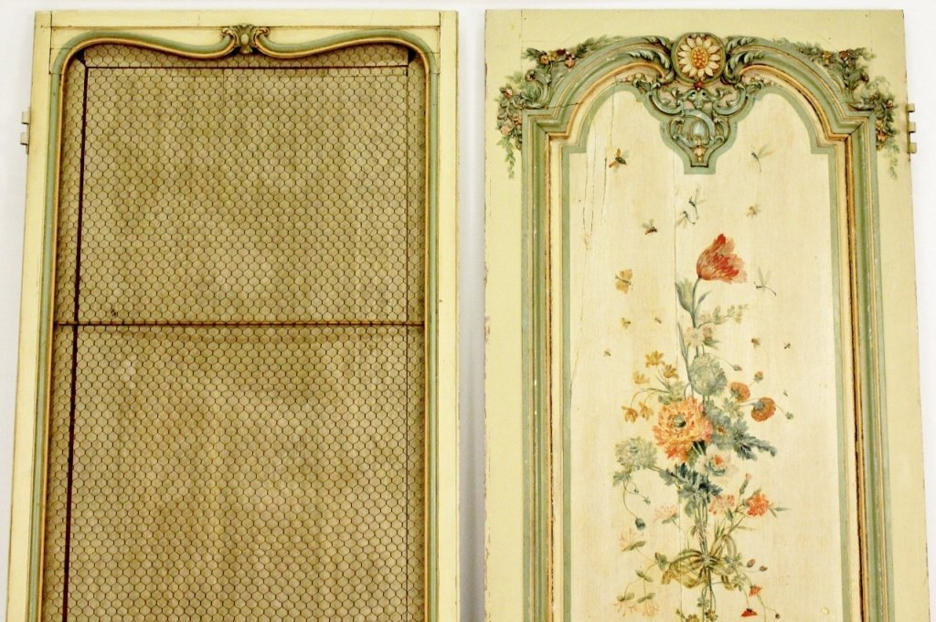 Pair of French Painted Doors - 5