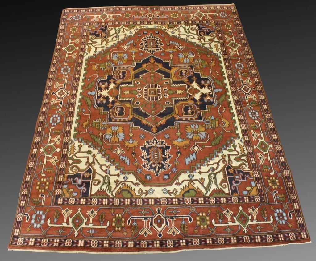 "Hand Woven Persian Heriz, 9' 9"" x 13' 9"""
