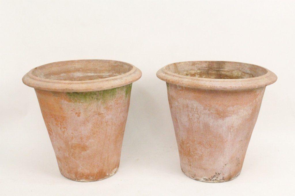 Pair of Terra Cotta Planters