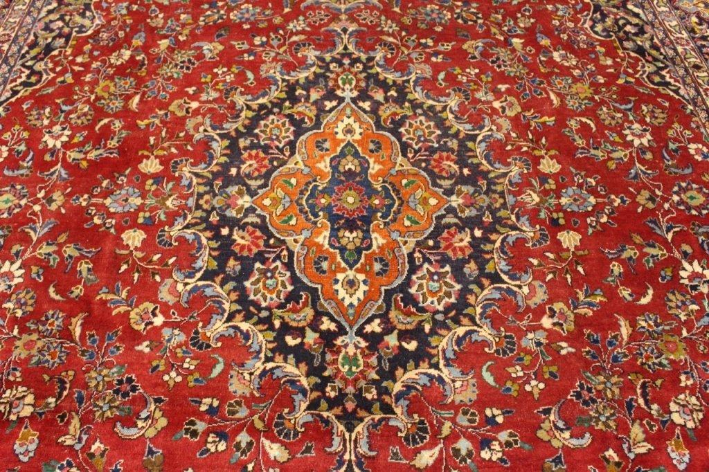 Signed Hand Woven Semi Antique Sarouk  Carpet - 2