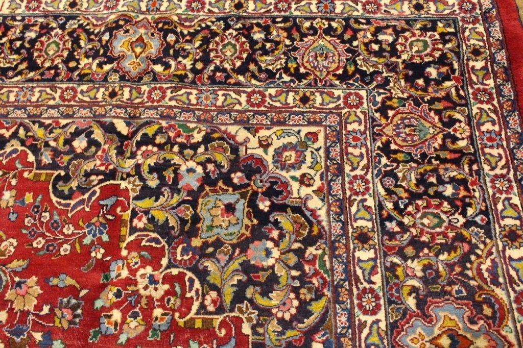 Signed Hand Woven Semi Antique Sarouk  Carpet - 3