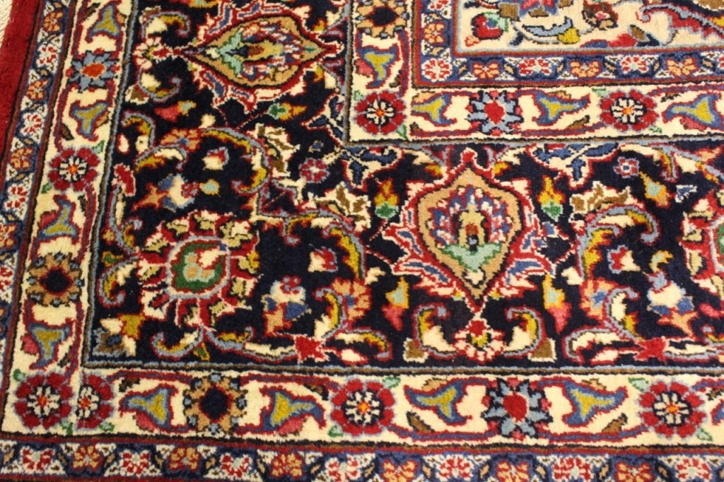 Signed Hand Woven Semi Antique Sarouk  Carpet - 4