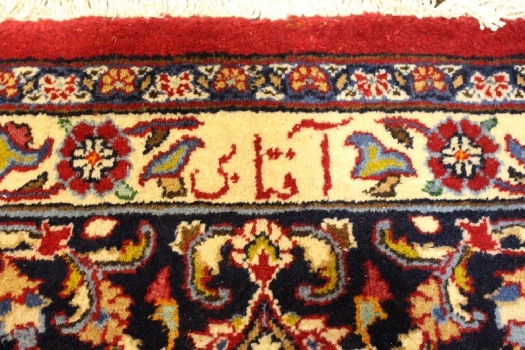 Signed Hand Woven Semi Antique Sarouk  Carpet - 5