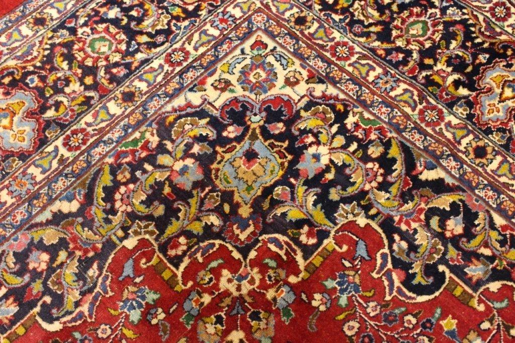 Signed Hand Woven Semi Antique Sarouk  Carpet - 6