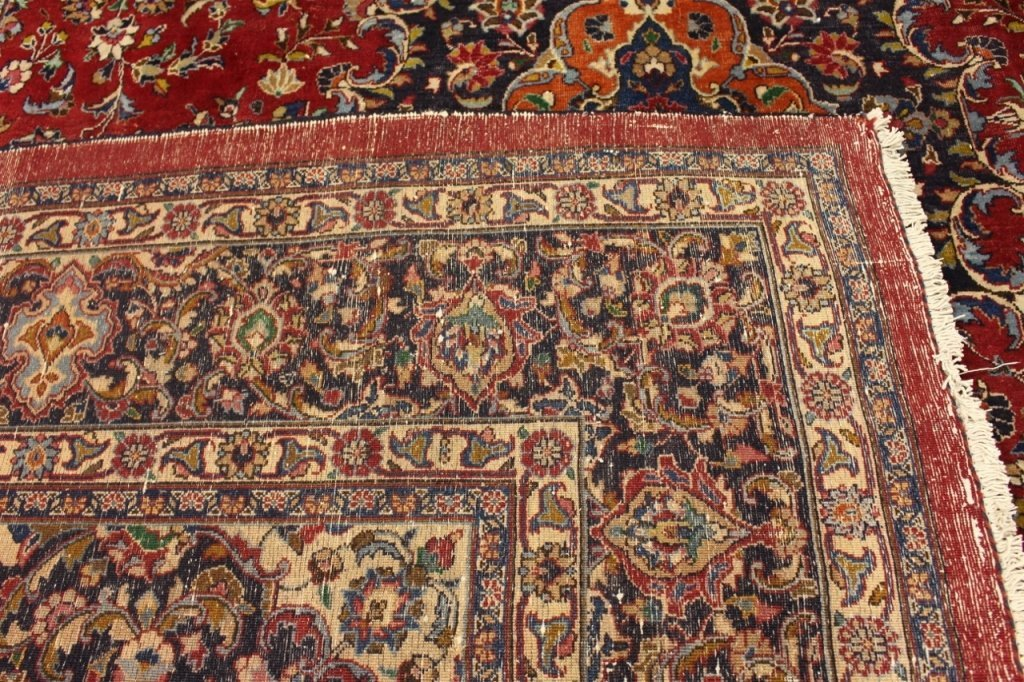 Signed Hand Woven Semi Antique Sarouk  Carpet - 7