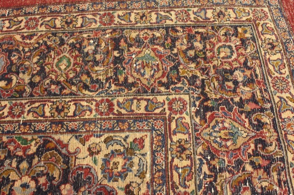 Signed Hand Woven Semi Antique Sarouk  Carpet - 8