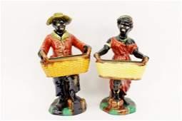 Pair of Ceramic Blackamoors
