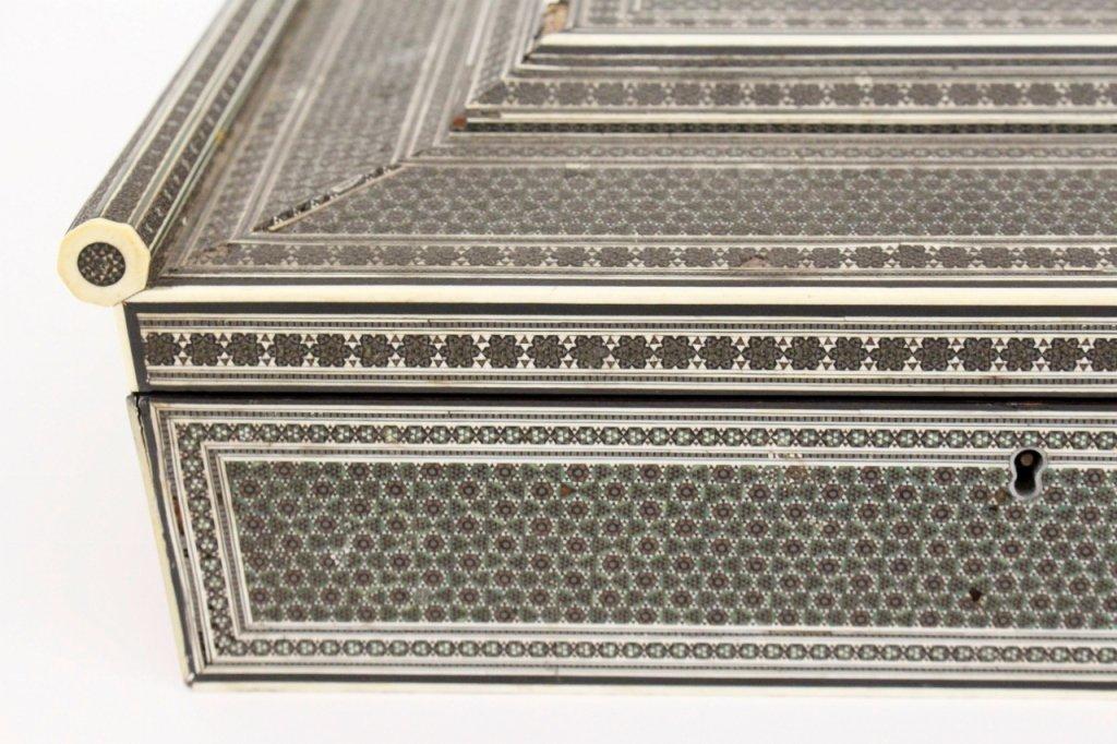 19th Century Ebonized Wood & Ivory Sewing Box - 2