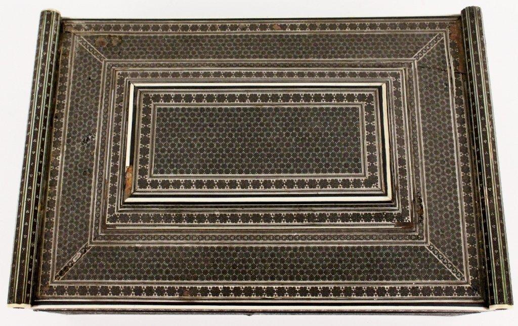 19th Century Ebonized Wood & Ivory Sewing Box - 3