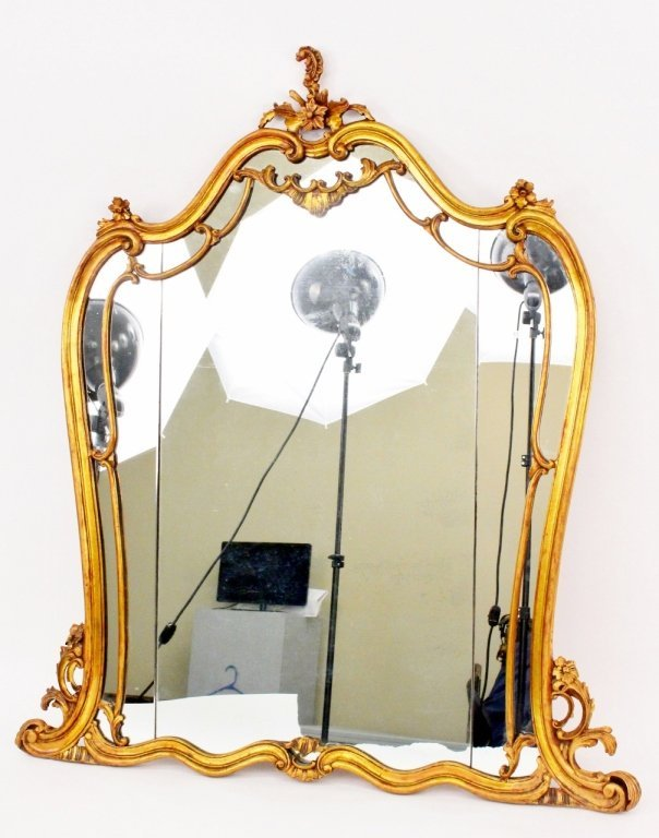 French Carved Gilt Wood Mirror