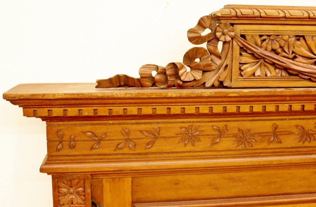Pair of 19th C. French Walnut Twin Beds - 5