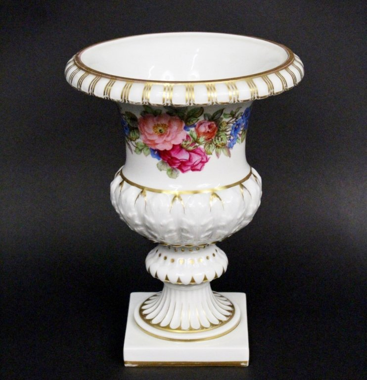 Dresden Style Porcelain Footed Urn