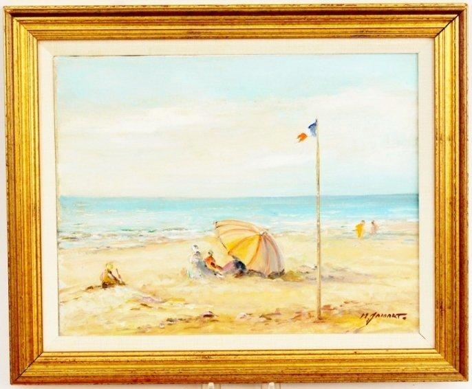 Michel Jamart Beach Oil on Canvas