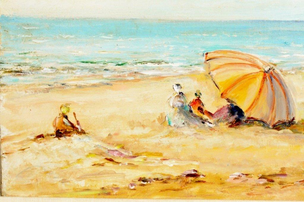 Michel Jamart Beach Oil on Canvas - 2