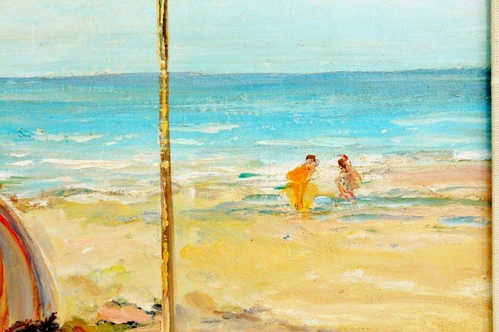 Michel Jamart Beach Oil on Canvas - 3