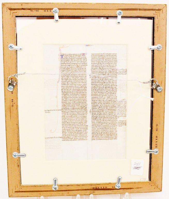 Medieval Illuminated Manuscript on Vellum - 10