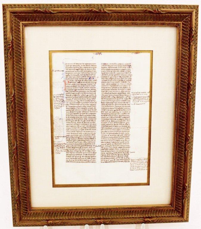 Medieval Illuminated Manuscript on Vellum