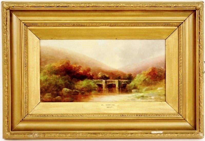 George Shaw Landscape with Bridge
