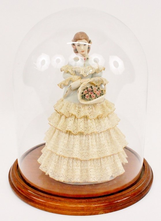 Lee Wollard Porcelain Figure--Woman in Lace Dress