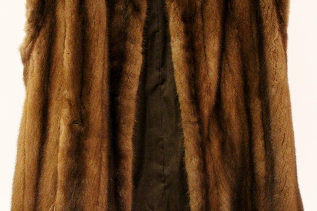 Brown Mink Fur Vest or Stole - 3