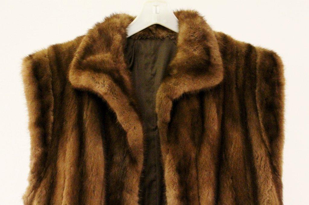 Brown Mink Fur Vest or Stole - 4
