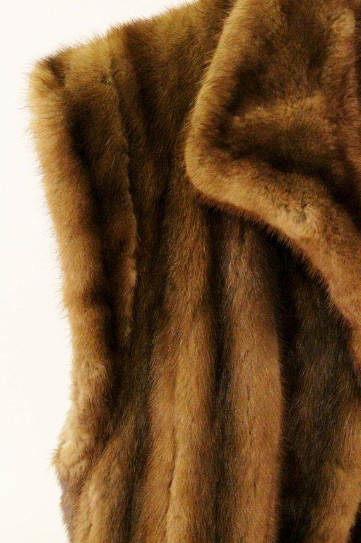 Brown Mink Fur Vest or Stole - 5