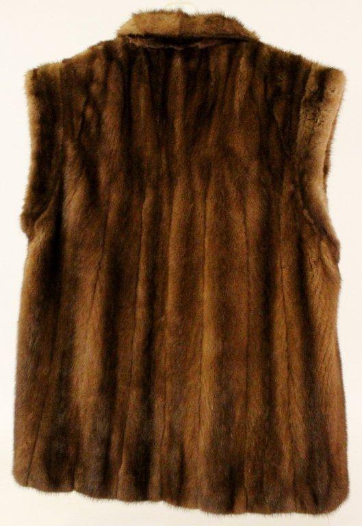 Brown Mink Fur Vest or Stole - 7