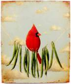 David Arms Contemporary Cardinal Painting