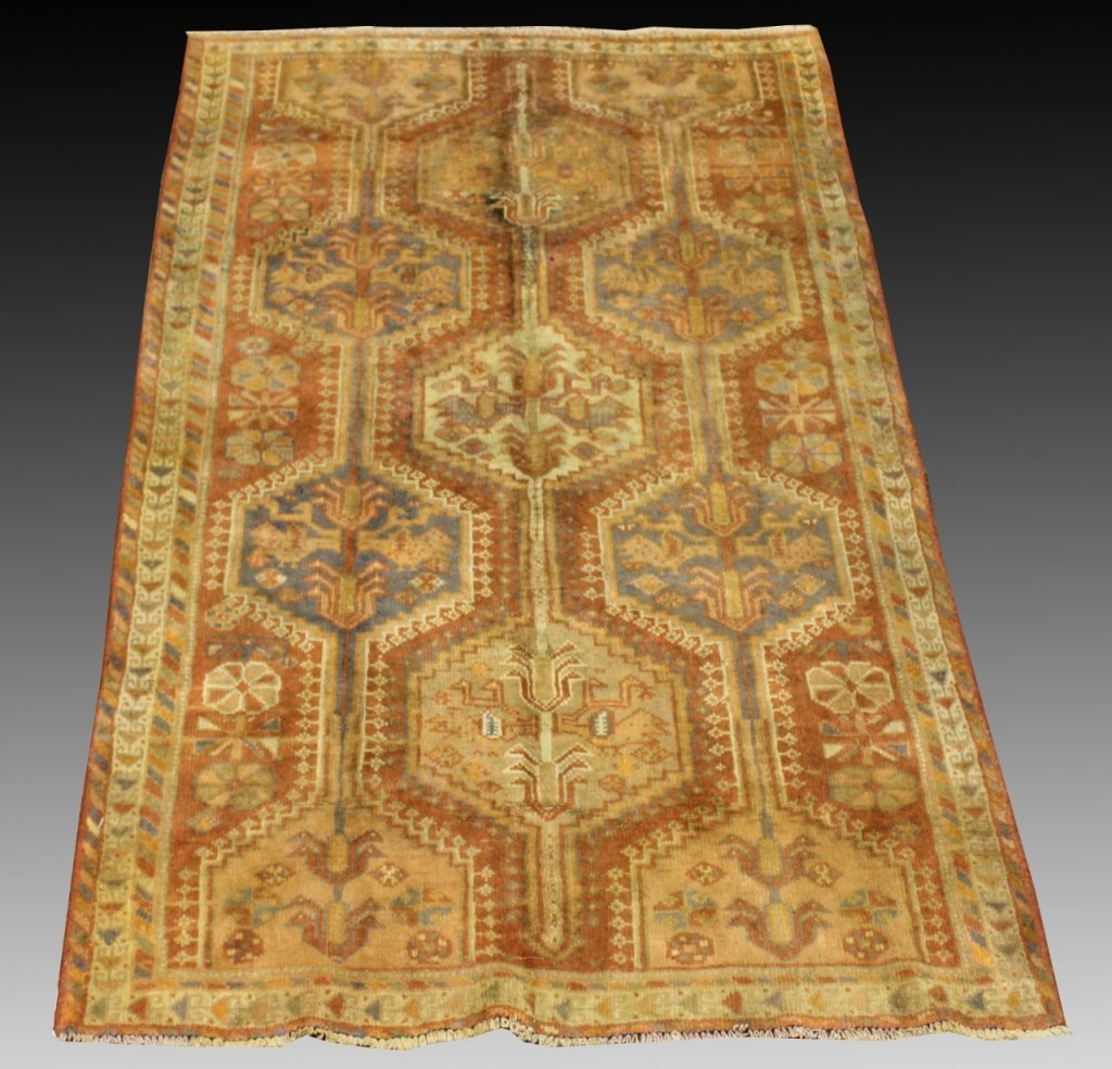 "Hand Woven Persian Area Rug, 92"" x 55.5"""