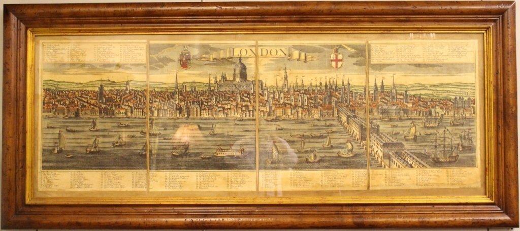 Georg Balthasar Probst, Map of London