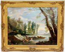 French Mid 19th C. Figural Oil Painting
