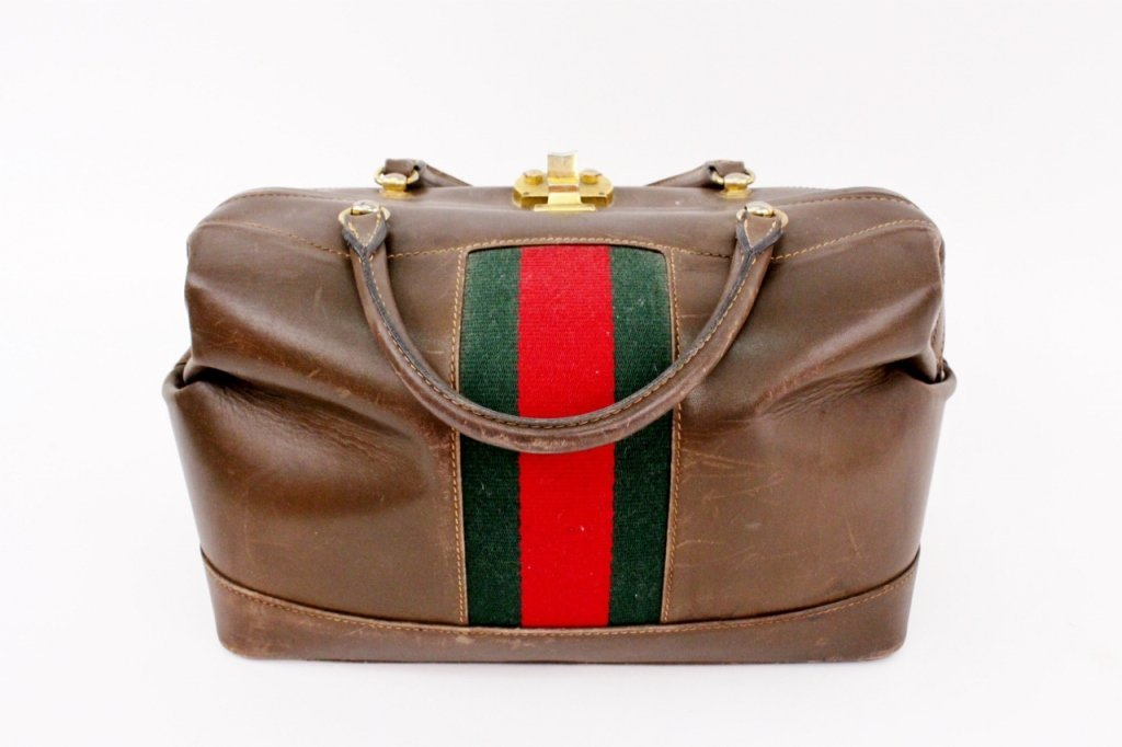 Vintage Designer Gucci Leather Handbag