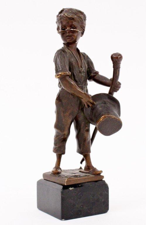 19th C. German Bronze Boy Sculpture